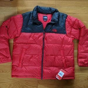 The North Face Mens 2XL Nuptse Down Jacket Red